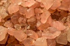 Minerales rosados del cuarzo, un fondo abstracto hermoso Foto de archivo libre de regalías