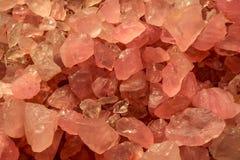 Minerales rosados del cuarzo, un fondo abstracto hermoso Imágenes de archivo libres de regalías