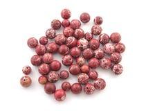 Mineralfelsen roter Variscite-Edelsteinstein lokalisiert auf weißem Hintergrund Stockbilder