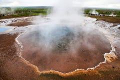 Mineralheiße quelle Blesi in Haukadalur-Tal Lizenzfreies Stockfoto
