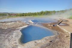 Mineralheiße quelle Blesi im geothermischen Bereich Lizenzfreie Stockfotos