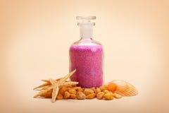 Minerali del mare - sale di bagno Immagine Stock