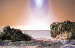 Minerali Di fantasia Paesaggio con Στοκ Εικόνα