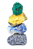 Minerali isolati Immagini Stock Libere da Diritti