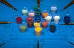 Minerali per la mandala Fotografia Stock Libera da Diritti