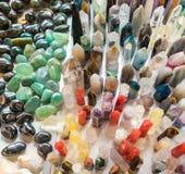 Mineralien, natürlicher Farbquarz Lizenzfreie Stockfotografie