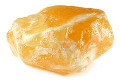 mineralisk orange för calcitecarbonate Royaltyfri Foto