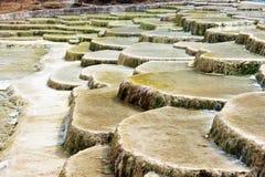 Mineralisk pöl, Jiuzhaigou KINA royaltyfri fotografi