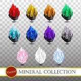 Mineralisk samling på stordiabakgrund Royaltyfri Fotografi