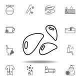 Mineralisk sten?versiktssymbol Detaljerad uppsättning av brunnsorten och att koppla av illustrationsymbolen Kan anv?ndas f?r reng royaltyfri illustrationer