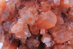 Mineralisk textur för Aragonite mineralaragonite Fotografering för Bildbyråer