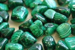 Mineralisk textur för malakit Royaltyfria Foton