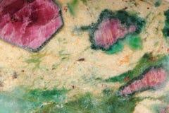 Mineralisk textur för rubin Royaltyfria Bilder