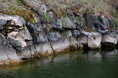 Mineraliska insättningar av Pegmatite i Ukraina Royaltyfri Bild