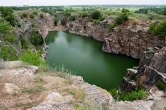Mineraliska insättningar av Pegmatite i Ukraina Royaltyfri Foto