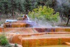 Mineraliskt medicinskt vatten för Pam Thermal Hotel Hot vår royaltyfria foton