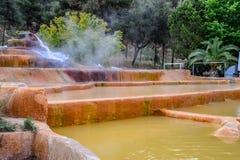 Mineraliskt medicinskt vatten för Pam Thermal Hotel Hot vår royaltyfria bilder