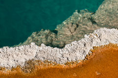 Mineralized Hot Spring Royalty Free Stock Images