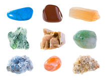 Minerals. Mineral collection isolated on a white background Stock Images