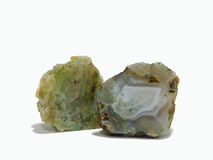 Minerals. Two pieces of minerals on a white background Royalty Free Stock Image