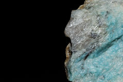 Minerals detail blue lazulite Stock Photography