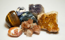 Minerals and gems Royalty Free Stock Photo