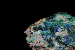 Minerals malachite azurite pyrite Royalty Free Stock Photos