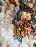 Minerals, natural color quartz Royalty Free Stock Image