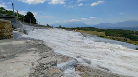 Minerals in Pamukkale. View of the calcareous minerals in Pamukkale stock footage