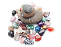 Minerals and pebble Stock Photography