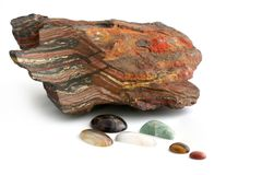 Minerals, Rough and Polished Stock Photography