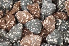 Mineralsteine benutzt in den Wasserreinigungsystemen Stockbild