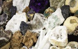 Mineralsteine und Edelsteine Lizenzfreie Stockbilder