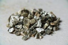 Mineralvermiculit-Proben für Produktion Lizenzfreie Stockfotografie