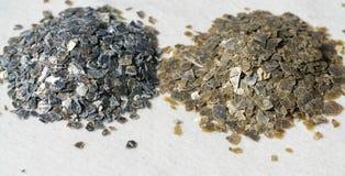 Mineralvermiculit-Proben für Produktion Stockfoto