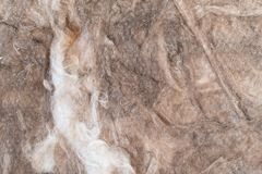 Mineralwolle für Isolierung von Häusern Stockfotos
