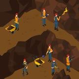 Minero de trabajo isométrico People Concept Fotografía de archivo libre de regalías