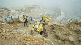 Minero del azufre Imagen de archivo libre de regalías