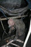 Minero en una mina Fotos de archivo libres de regalías