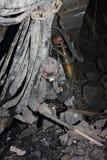 Minero en una mina Foto de archivo