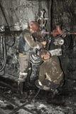 Minero en una mina Fotos de archivo