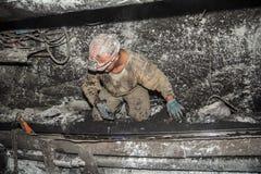 Minero en una mina Fotografía de archivo