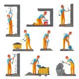 Minero People Flat Collection stock de ilustración