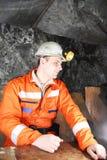 Minero que tiene una rotura del trabajo Fotografía de archivo libre de regalías