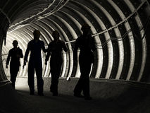 Mineros stock de ilustración