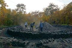 Mineros de carbón fotografía de archivo libre de regalías