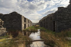 Miners barracks at Rhosydd Quarry Stock Images