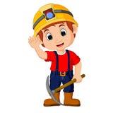 Miners boy cartoon Royalty Free Stock Photography