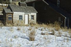 Miners cabin winter Royalty Free Stock Photos