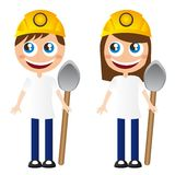 Miners cartoons Stock Images